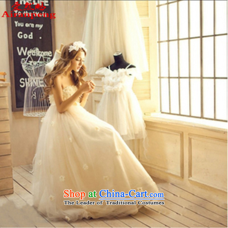 Love So Peng Palace lace Korean Won-Princess Bride wedding dresses long marriage bows 2015 color picture champagne�XL package returning