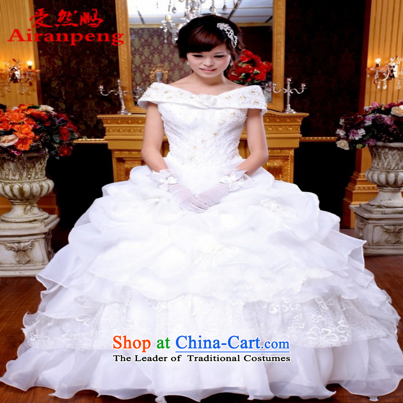 Love So Peng wedding dresses new 2015 Korean word princess shoulder princess package shoulder wedding white wedding White�XL package returning