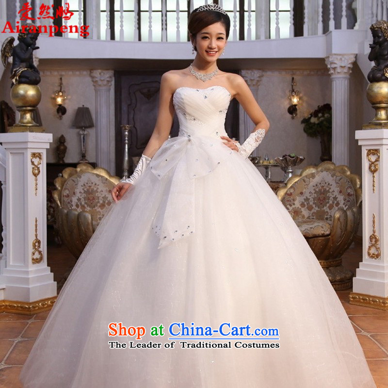 Love So Peng 2015 stars of the same Winter Korean elegant sweet princess alignment with chest drill video thin white wedding dresses to make to the customer not to return the size