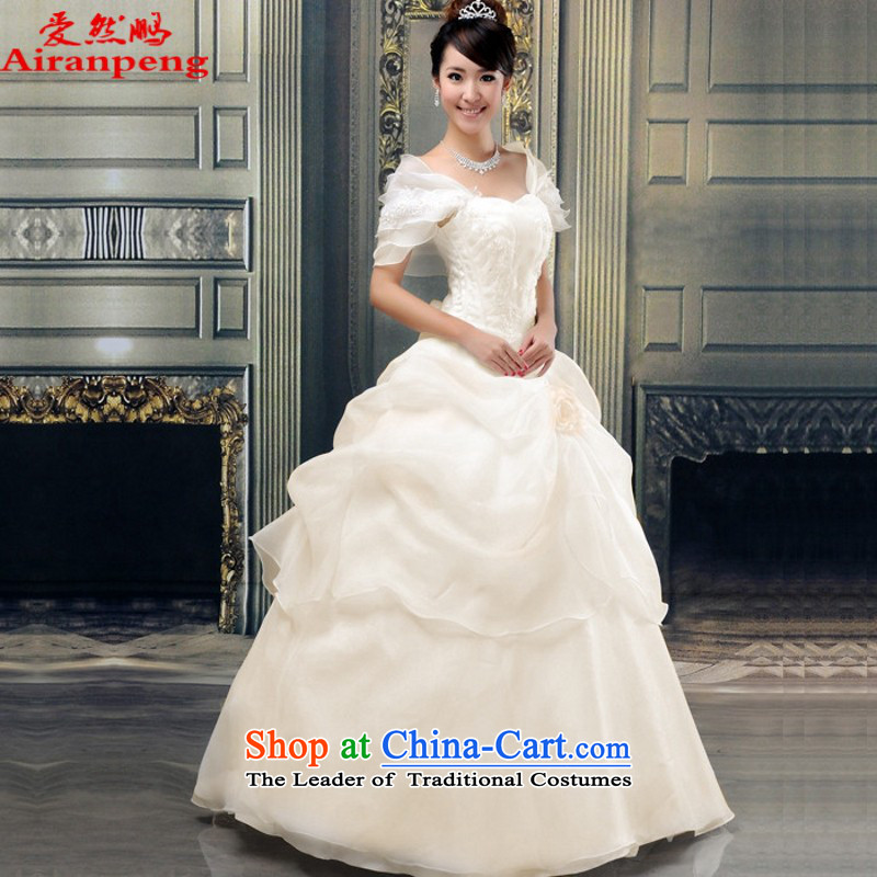 Love so beautiful bride Peng wedding dresses 2015_ new Korean Princess_small package size of a customer to Champagne shoulder to be refunded