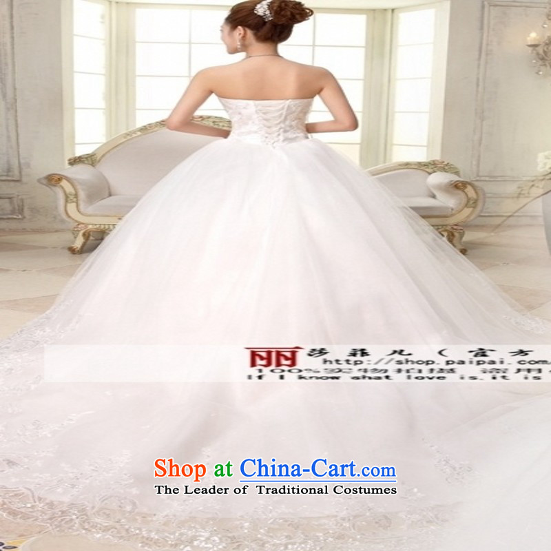 Love So Peng wedding white new bride 2015 version of large Korean dress code tail lace custom alignment with chest video thin trailing?S return package