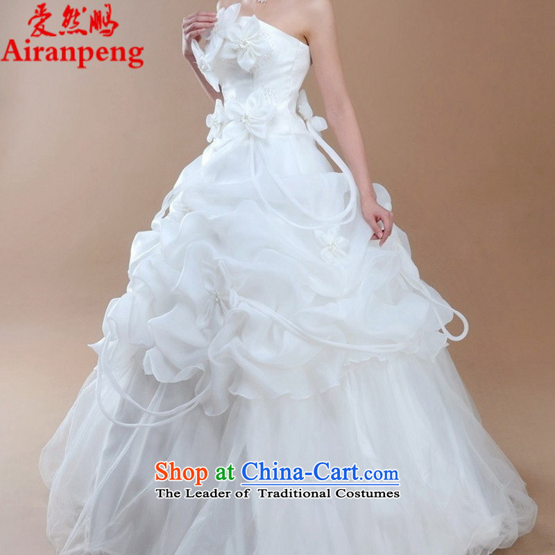 The hot sales of 2015_ Bride wedding dresses qipao?HS1233 physical?video thin Korean Princess White?XL package returning