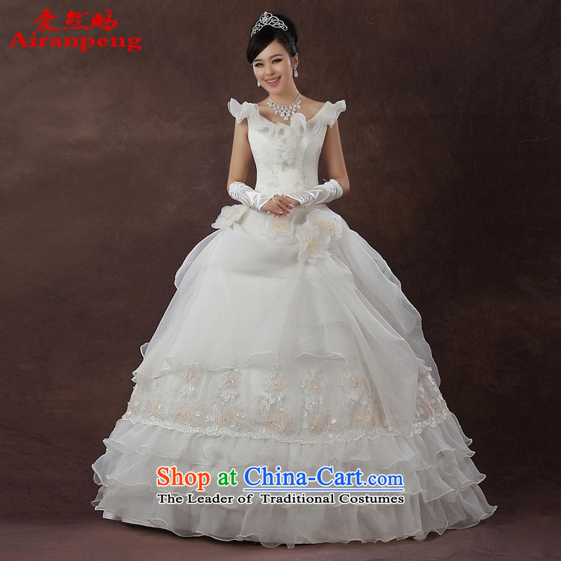 Love So Peng wedding dresses during the summer of 2015, the new field shoulder bags shoulder graphics thin Princess Korean Wedding Red White?XL package returning