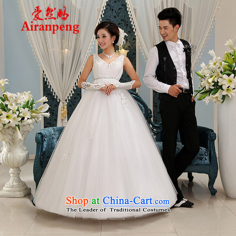 Love So Peng 2014 Spring New strap pregnant women high waist wedding Korean minimalist pregnant women wedding Korean Bridal Suite White?XL package returning