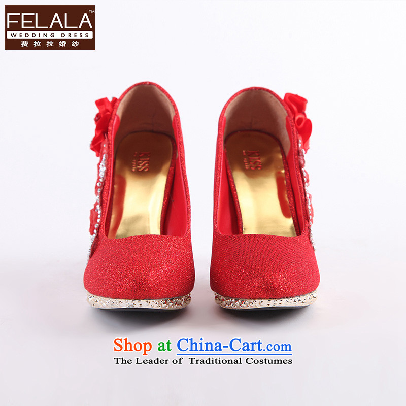 Ferrara new marriage footwear in the high-heel shoes . Drill bride shoes marriage water shoes red banquet shoes dress women shoes 35 Code