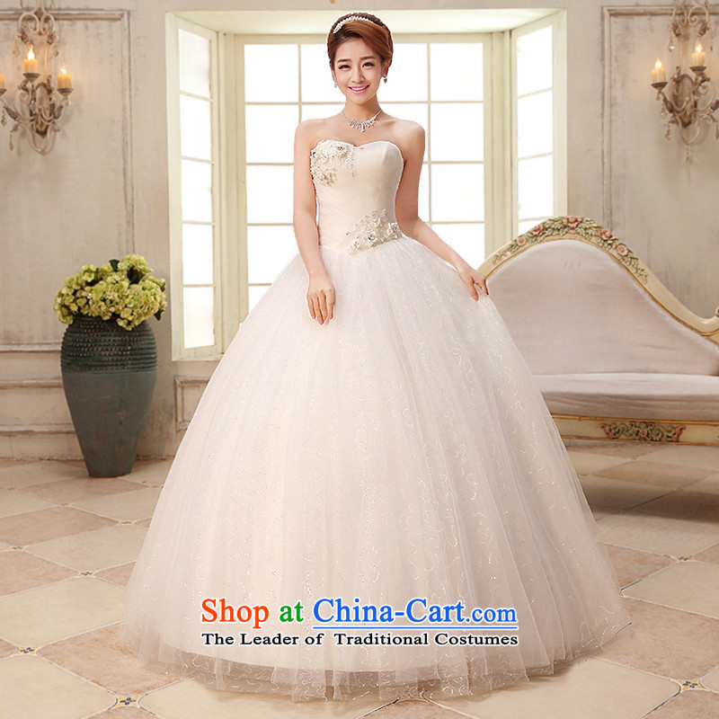 The HIV NEW 2015 wedding dresses marriages Sau San video thin wedding Korean alignment with chest lace wedding band Diamond Jewelry�H-33�White�XXL