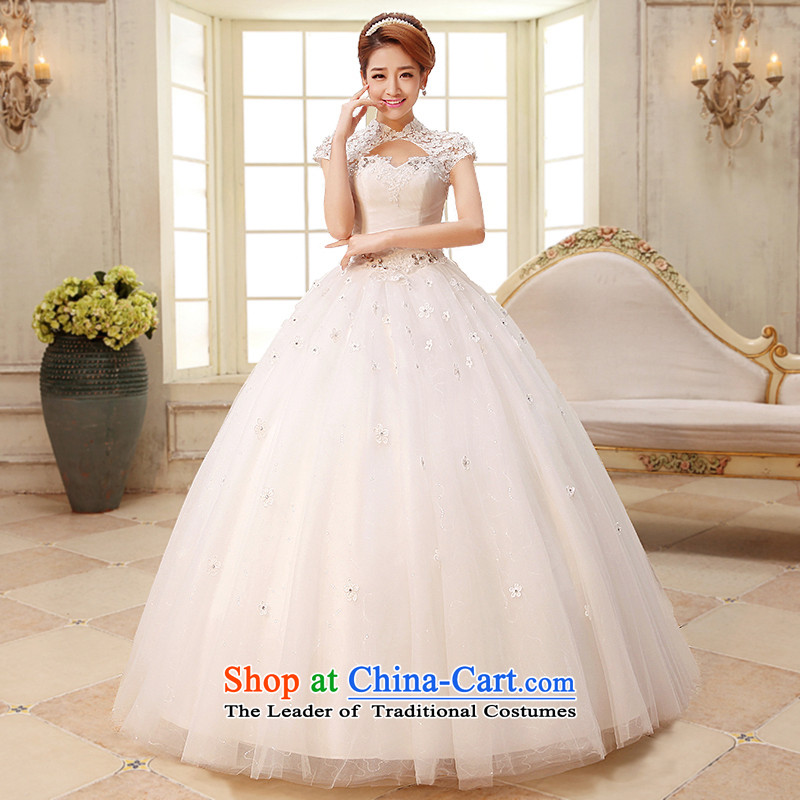 The HIV NEW 2015 wedding dresses the word shoulder flowers lace princess package rotator cuff sweet strap marriages Korean Princess?H-32?white?S