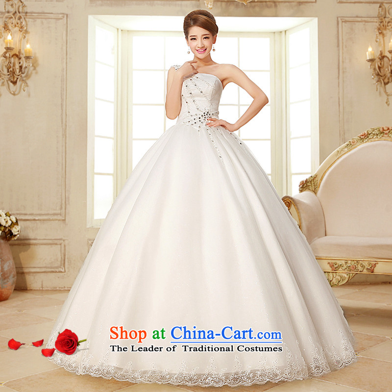 The HIV NEW 2015 wedding dresses marriages wedding fashion and chest shoulder of diamond ornaments lace straps wedding Phoenix wedding H-24 White XXL