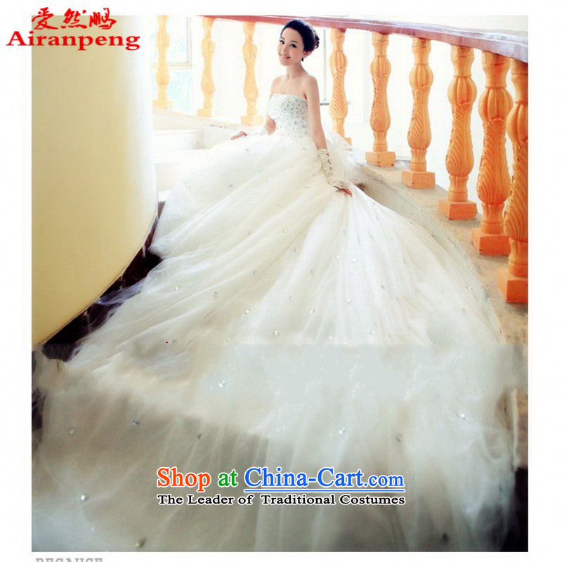 Love So Much new 2014-pang tail wedding Korean Princess Korean long tail straps wedding 740 white customer to do not returning the size to