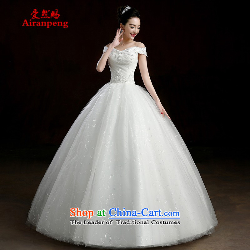 Wedding dresses new stylish Korea version of 2015 Field shoulder bags shoulder straps to align the bride spring wedding video thin shoulders style white?XL package returning