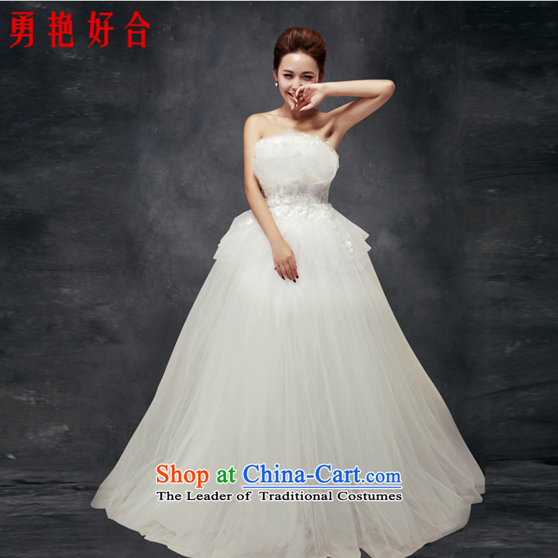 Yong-yeon and new wedding dresses?vera wang Korean anointed breast height waist to align the bride pregnant women bon bon wedding made no size White Replacement