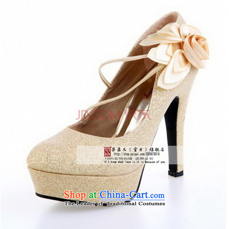 Shoes marriage shoes red shoes marriage shoes bride shoes large red marriage shoes high heels HX08 red35 centimeters and 11.5 Code love so Peng (AIRANPENG) , , , shopping on the Internet