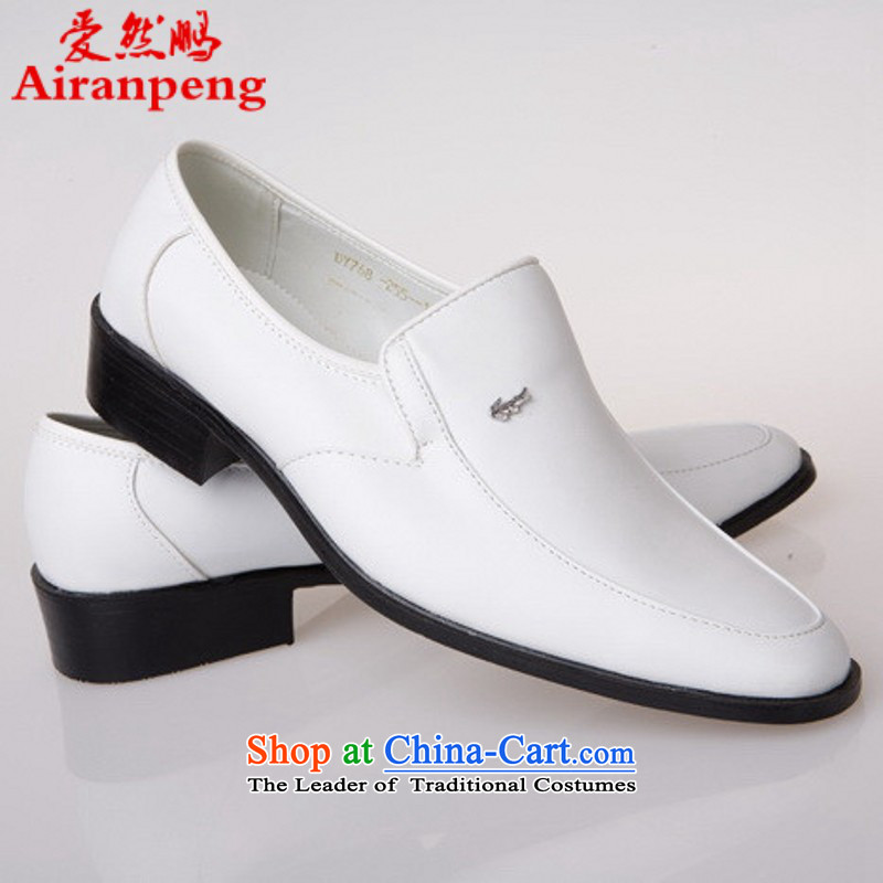 White shoes songs choral competition stage performance shoe men dress shoes new Ogonis shoes 768 white 40