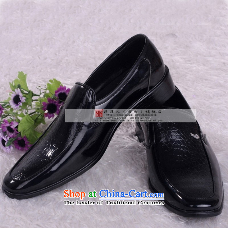 Marriage men married shoes shoes groom shoes photo building marriage shoes black shoes HX001 black 42 Oi Yin Peng (AIRANPENG) , , , shopping on the Internet