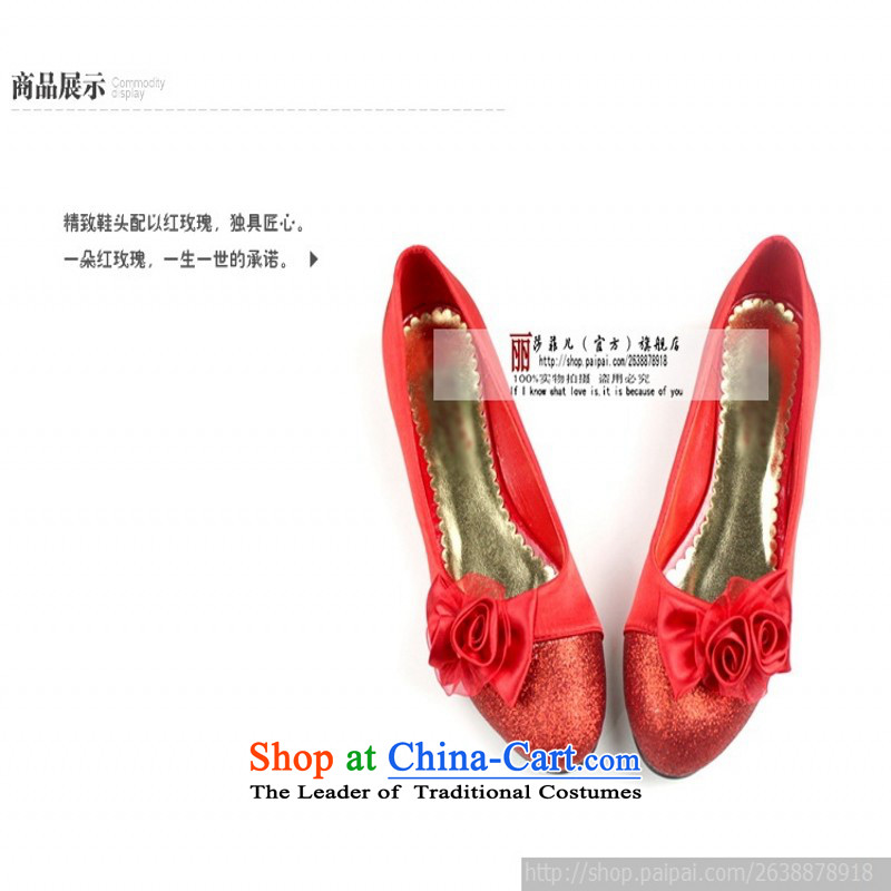 The Korean version of marriage flat bottom marriage shoes red shoes marriage shoes wedding shoes heel shoe qipao shoes low larger single shoe red 39 pregnant women love so Peng (AIRANPENG) , , , shopping on the Internet