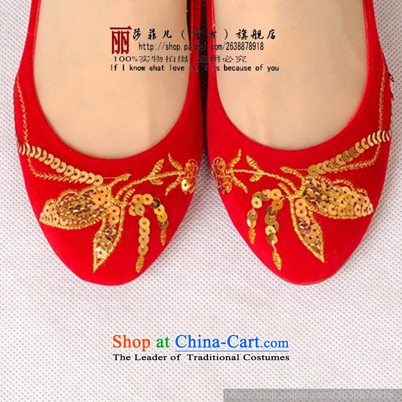 The bride marriage shoes marriage shoes qipao shoes red shoes bride shoes 99810 marriage red聽39 love so Peng (AIRANPENG) , , , shopping on the Internet