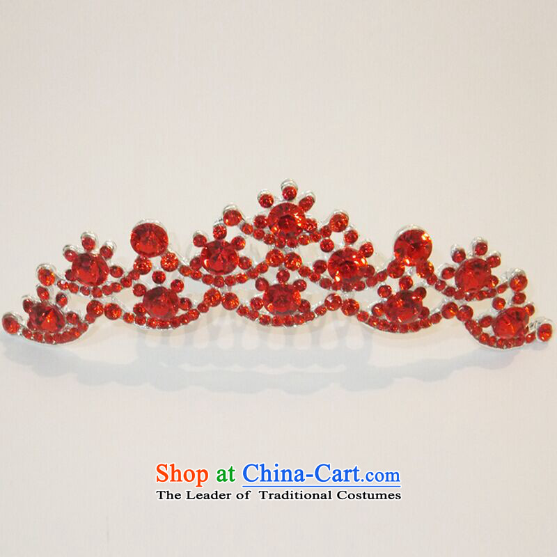 Hiv Miele Red Head Ornaments wedding dresses accessories, Korea imported Diamond Crown flash bride crown hairbands marriage accessories�G-092�red