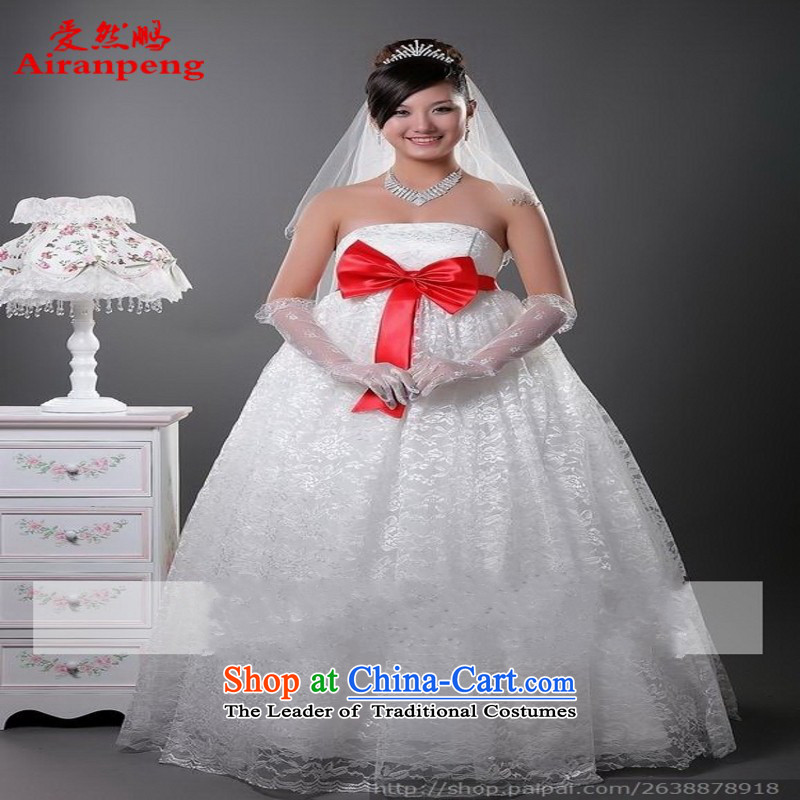 2014 new dress strap Top Loin of Korean version of large numbers of pregnant women bride wedding HS00188 White�XL package returning