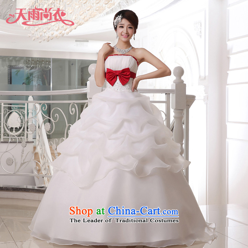 Rain-sang Yi marriages 2015 new dresses and stylish Sweet Korean Princess Mary Magdalene Chest straps to align the wedding HS916 white�S