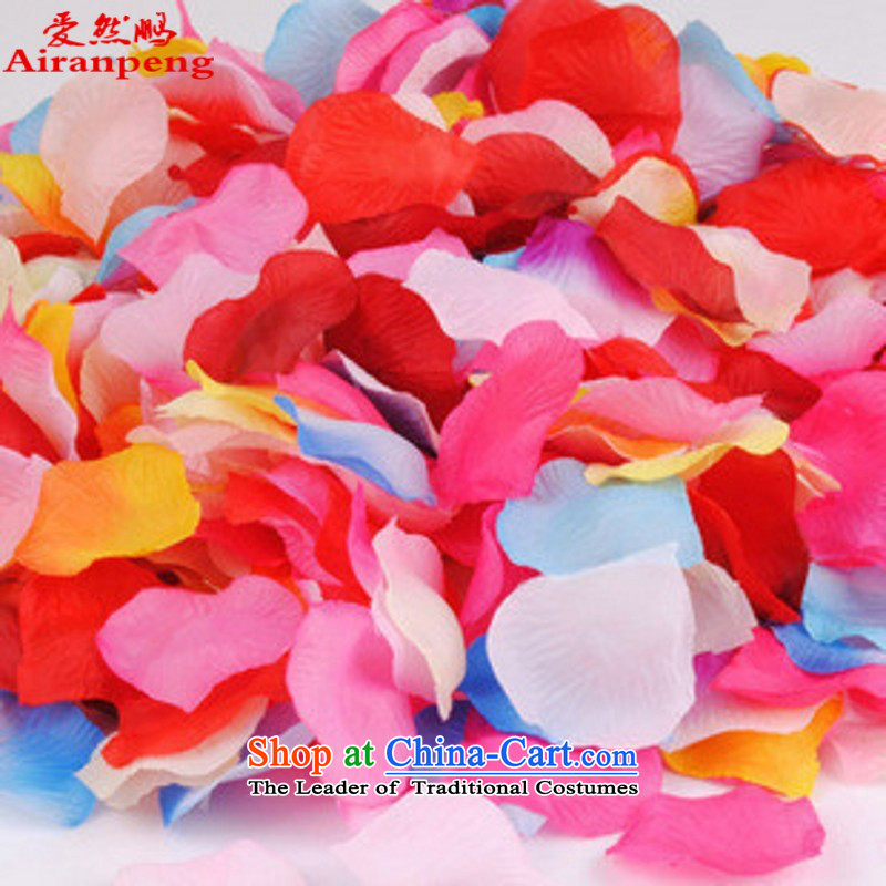 The new bride international marriages Accessories sub-flower petals of festivity bed sprinkled petals emulation flower blue are generally equipped with 4 package