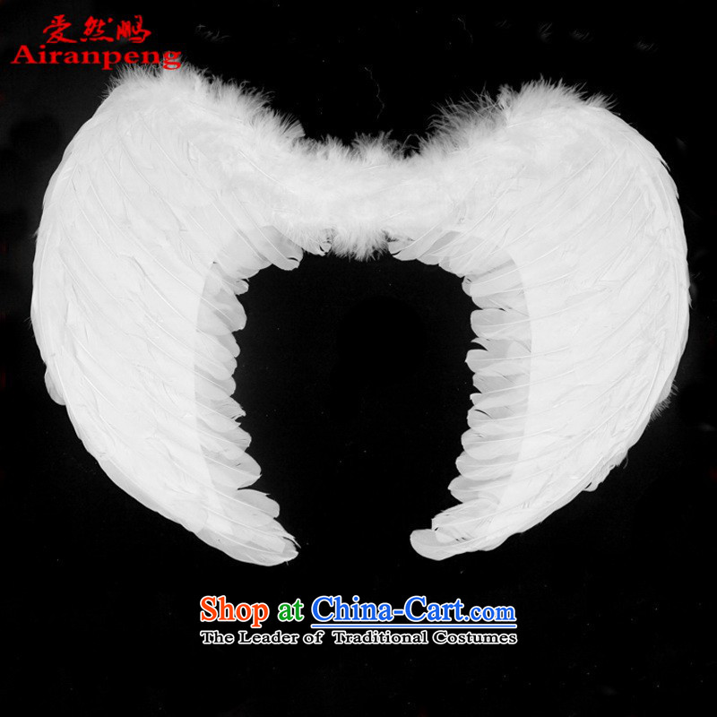 Special offers children angel feather wings wings decorated Wedding Wings of the children's entertainment white wings Small?Adult XL