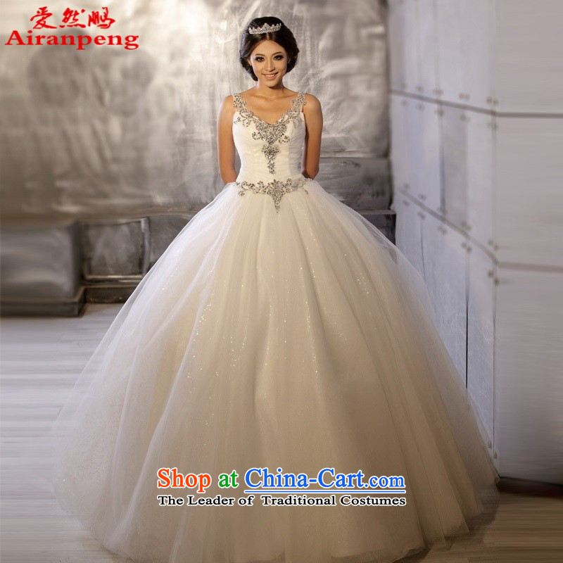 Love So new Korean Peng new luxury shoulders to align manually bride wedding dresses HS6002 custom size for a customer to be refunded