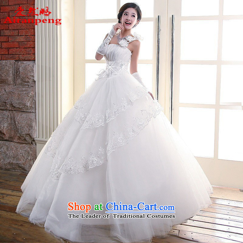 Love So Peng New 2014 wedding Korean flower Royal Princess shoulder sweet summer stylish wedding dresses�XL package returning