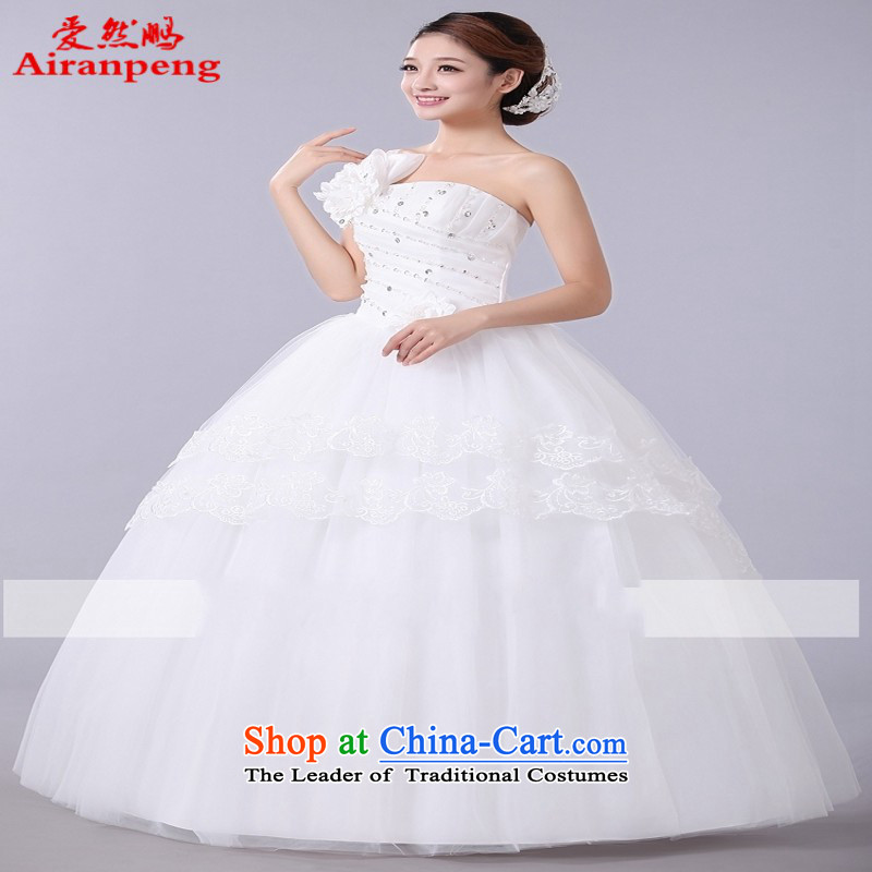 The spring of the new wedding dresses 2015 Korean sweet princess shoulder straps to align with flowers wedding customers to do not returning the size to