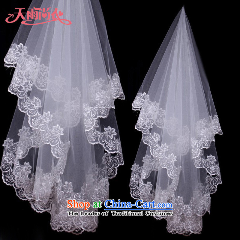 Rain Coat and legal marriage is the bride wedding styling and legal hairpiece yarn lace large white lace yarn TS8 Pure White�3M