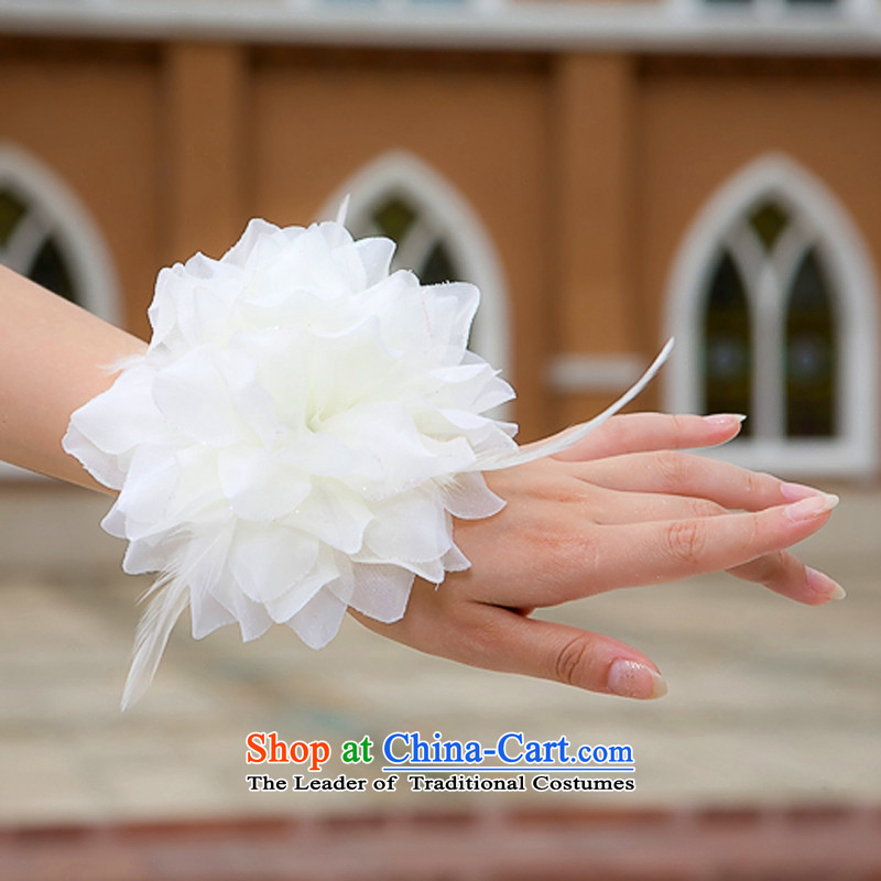 Rain Coat head-dress is performed stage style wedding Floral Hairpiece bridesmaid to spend wedding dresses Chest Flower multipurpose mobile spend TH2 m White, rain-sang Yi shopping on the Internet has been pressed.