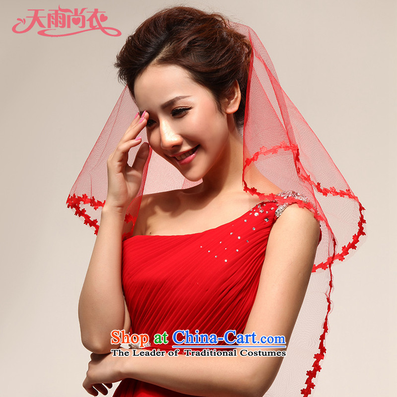 Rain-sang Yi marriages and legal Bridal Make Up wedding dresses accessories head-dress photo building and legal TS1 Red