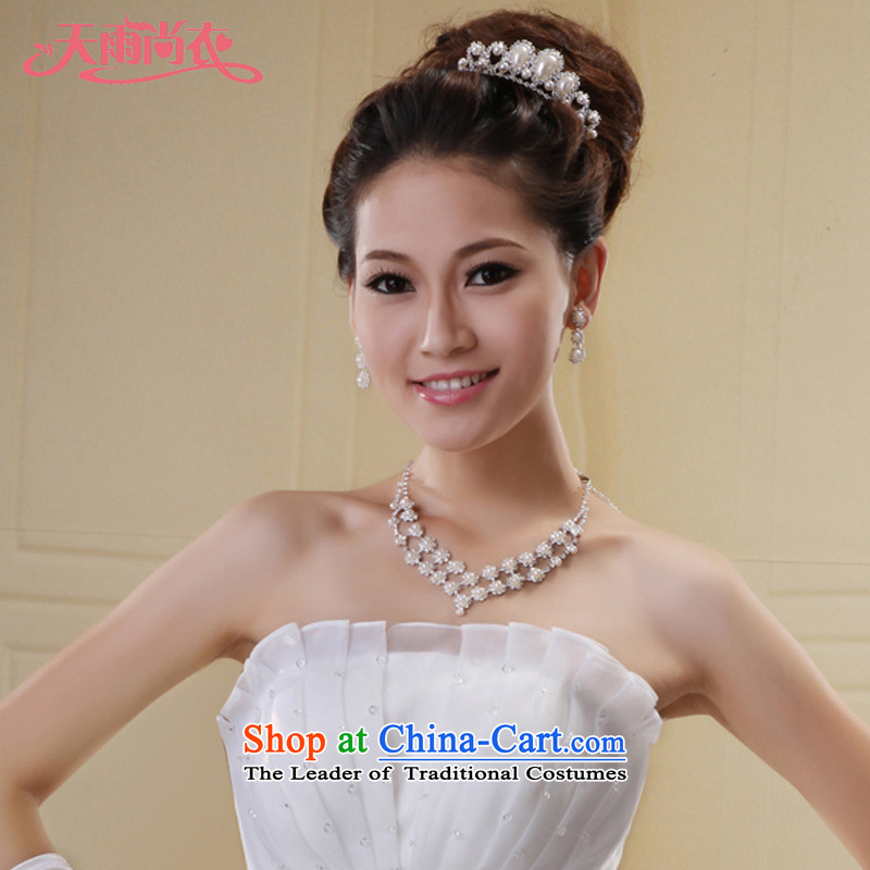 Rain-sang yi bride wedding dress smartly ornaments necklace Jewelry marry pearl necklaces earrings crown XL02+HG3�XL02+HG3 Kits