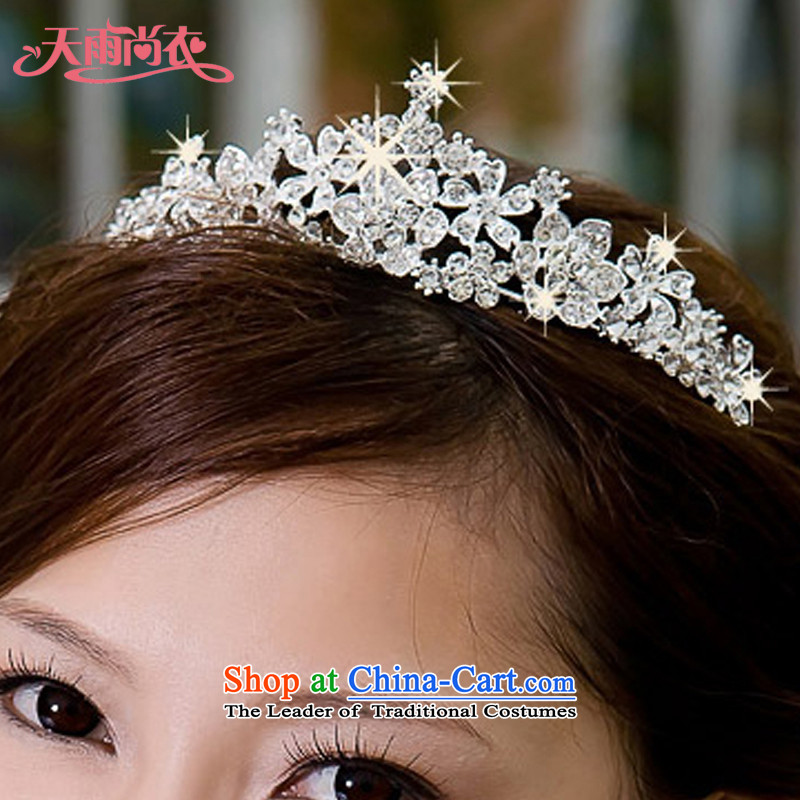 Rain-sang Yi New Photo building hairpiece ornaments wedding dresses hair decorations marriage pearl water drilling Crown Korean crown HG26 alloy water drilling_