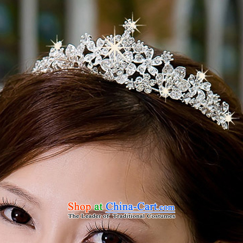 Rain-sang Yi New Photo building hairpiece ornaments wedding dresses hair decorations marriage pearl water drilling Crown Korean crown HG26 alloy water drilling, rain-sang Yi shopping on the Internet has been pressed.