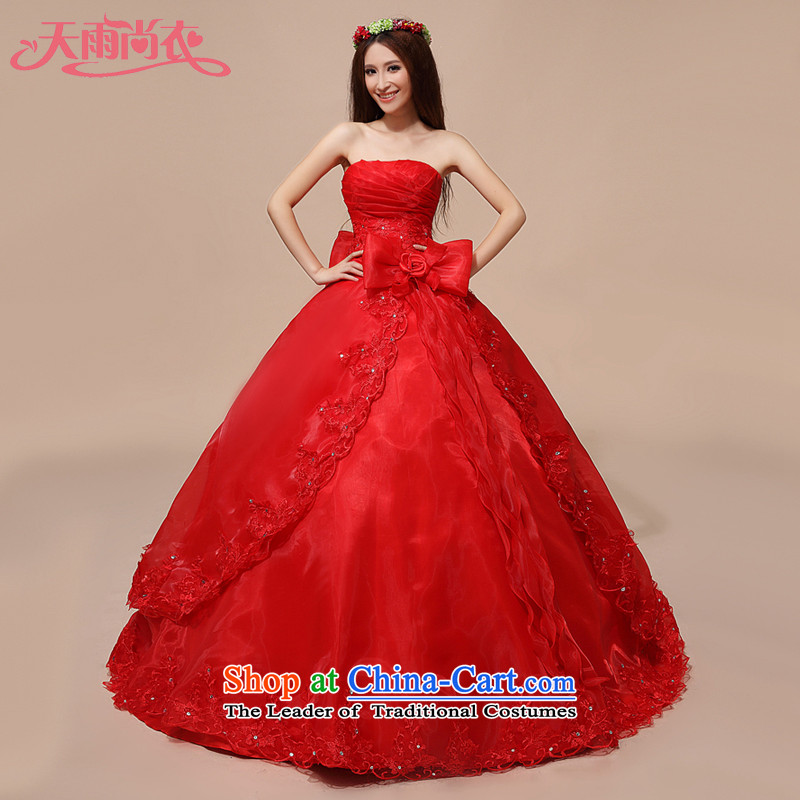 Rain-sang Yi marriages new wedding celebration for the chest and sweet red out of Princess wedding HS844 RED�M