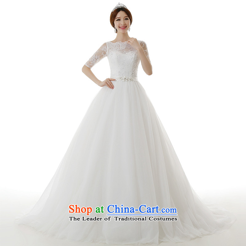 Clean the�new 2015 Castores Magi slotted shoulder for long-sleeved lace large tail wedding dresses and stylish Korean Sau San video thin package in shoulder cuff tail wedding tail)�S  �pre-sale 7-8 day shipping