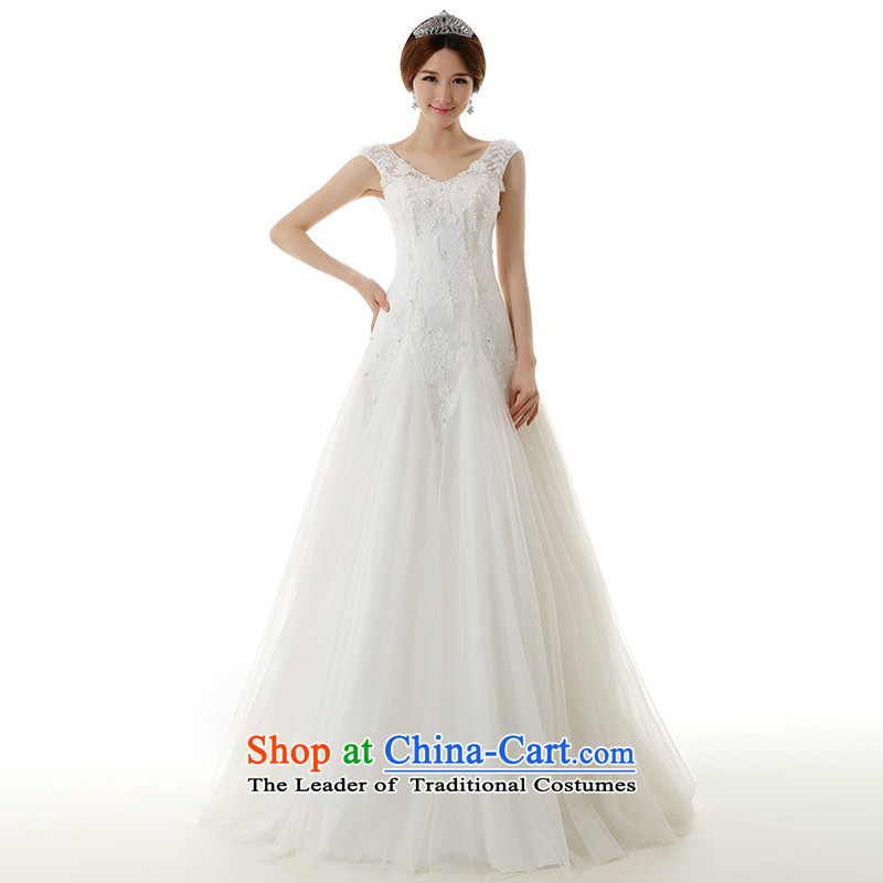 Clean the�new trendy 2015 spread the word shoulder a field to align petticoats wedding dresses elegant slotted package shoulder stylish wedding dresses White�XXL�pre-sale
