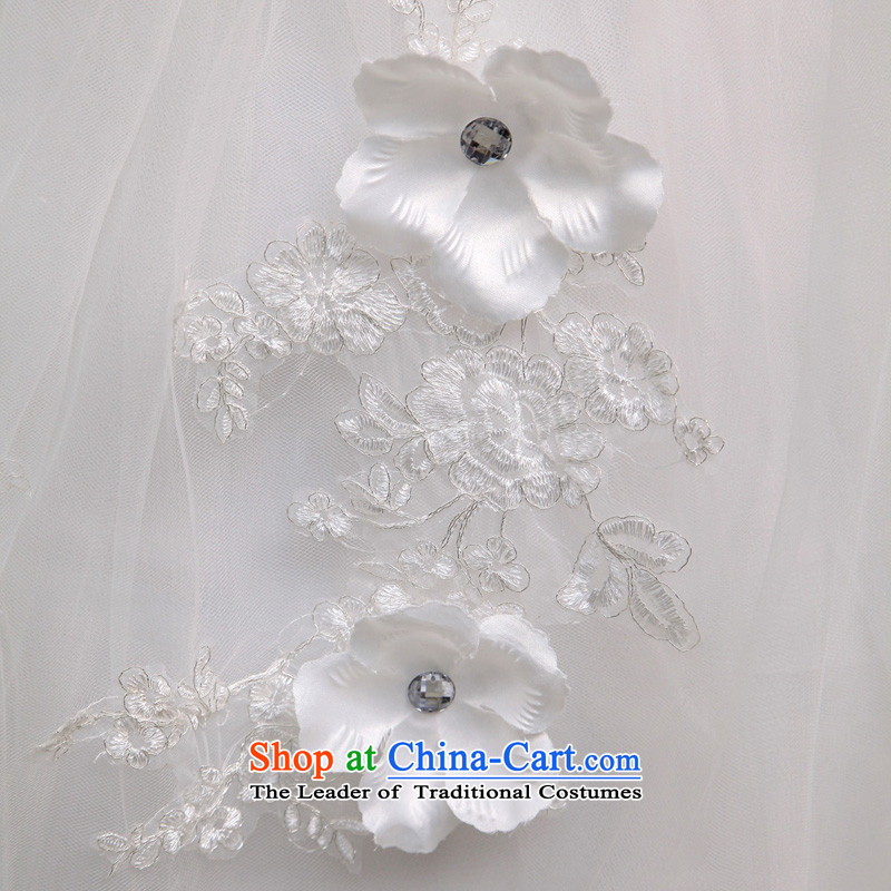 Honeymoon bride 2015 new wedding dresses water drilling flowers graphics thin wedding shoulder straps flowers sweet princess wedding White M honeymoon bride shopping on the Internet has been pressed.