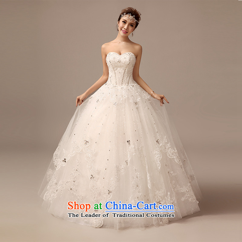 2015 Spring/Summer new anointed chest princess wedding fashion with the video graphics high Sau San thin marriages wedding dresses White�XL