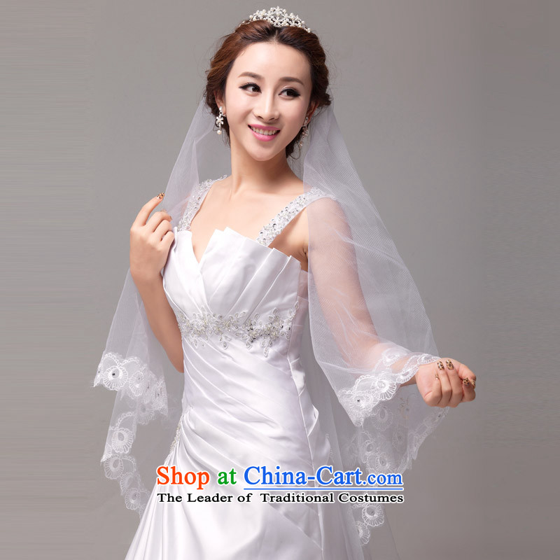 �Love of birds mslover lace single layer wedding dresses accessories marriages long head yarn tail and legal rice white�3 m