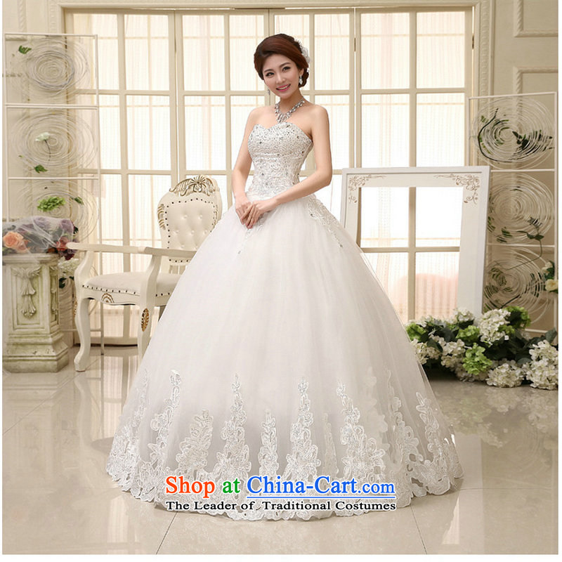 Optimize the spring 2014 New Hong-wedding dresses elegant sweet words to align the Princess Bride chest diamond wedding XS889 White聽XXL