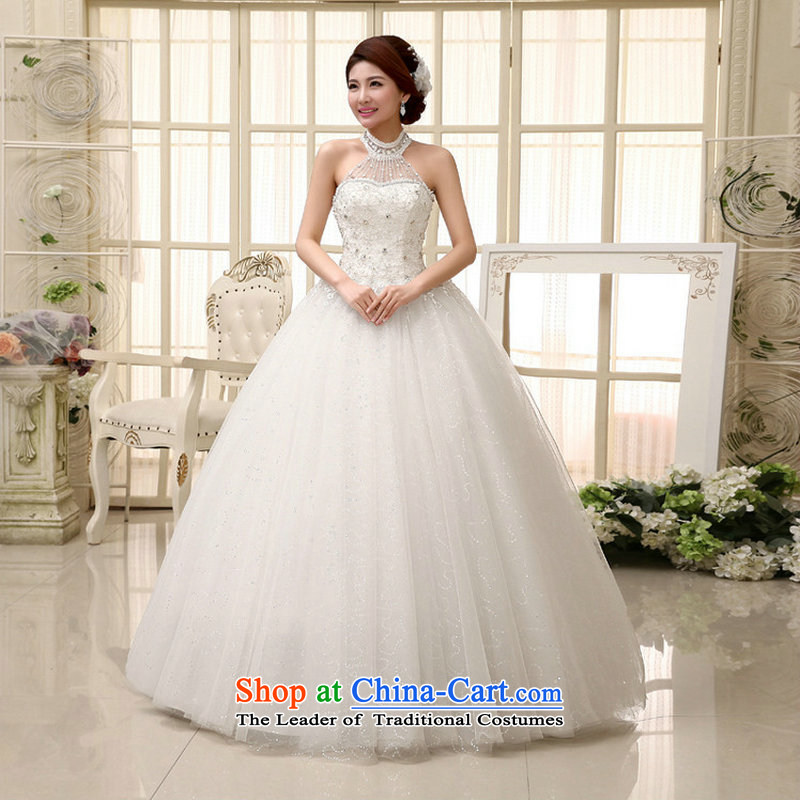 Optimize Hong-wedding dresses new 2014 Korean Red double-shoulder straps Sau San bride lace to align the wedding XS889 female white�L