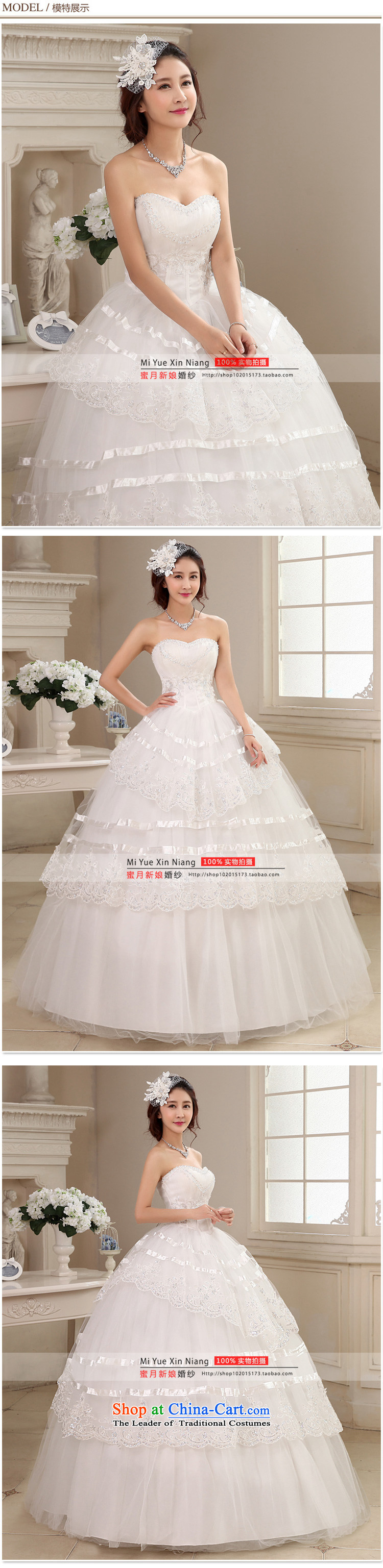 Honeymoon bride wedding dresses 2015 new water drilling and chest wedding align to bind with Princess wedding white L picture, prices, brand platters! The elections are supplied in the national character of distribution, so action, buy now enjoy more preferential! As soon as possible.
