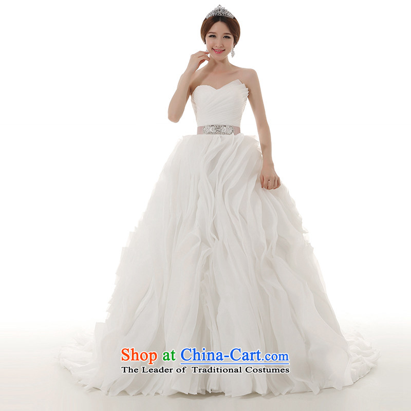 Clean the?new trendy 2014 diffuse tail wedding dresses original creases billowy flounces tail wedding ceremony tail,?XXL