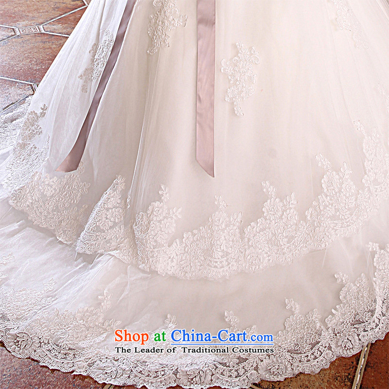 Honeymoon bride wedding dresses聽2015 new lace straps wedding trailing white wedding聽, L, bride honeymoon shopping on the Internet has been pressed.