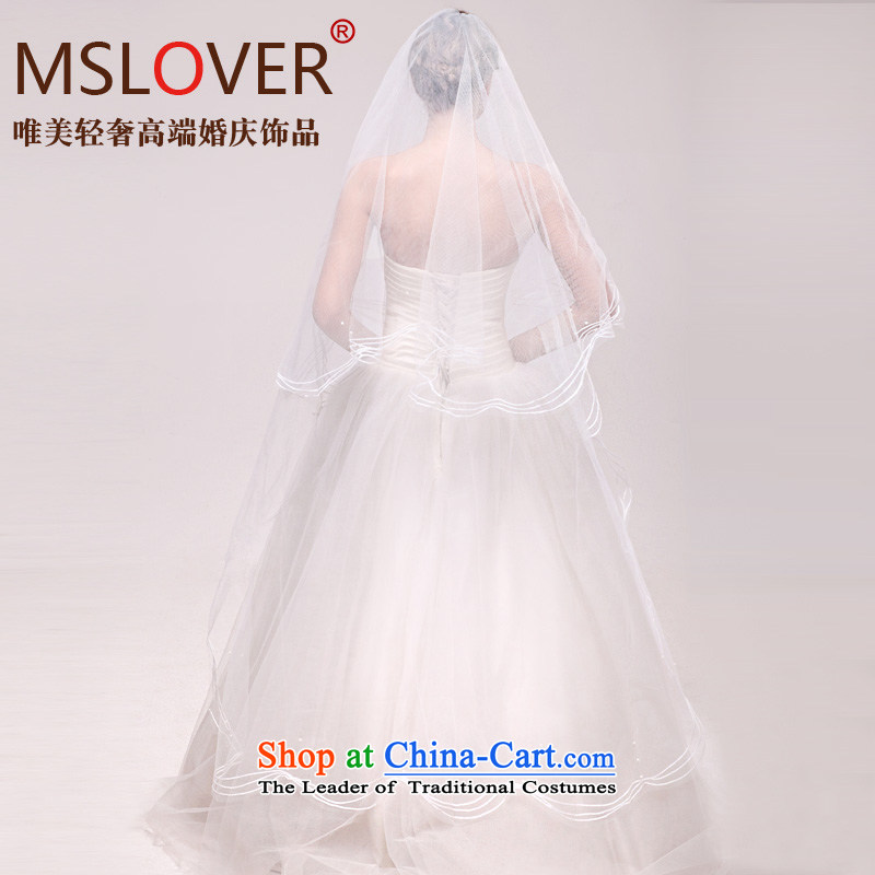 �Staple Pearl mslover atmospheric 1.5 m single layer wedding dresses accessories marriages long head yarn tail and legal�ts131106 2.5 m