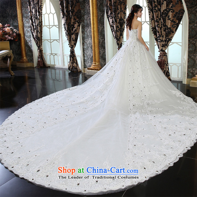 Honeymoon bride wedding dresses聽2015 New dream lace tail wedding princess wedding White聽M honeymoon bride shopping on the Internet has been pressed.