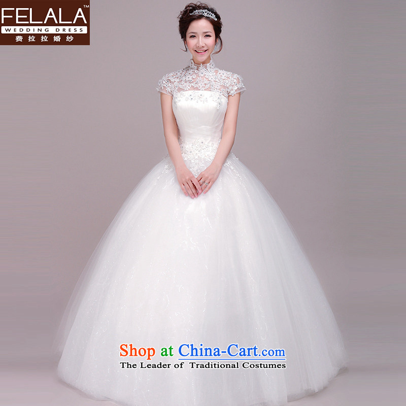 Ferrara Ting Ho wedding dresses 2015 new Korean word to align the shoulder lace retro package wedding female�XL(2 feet 2)