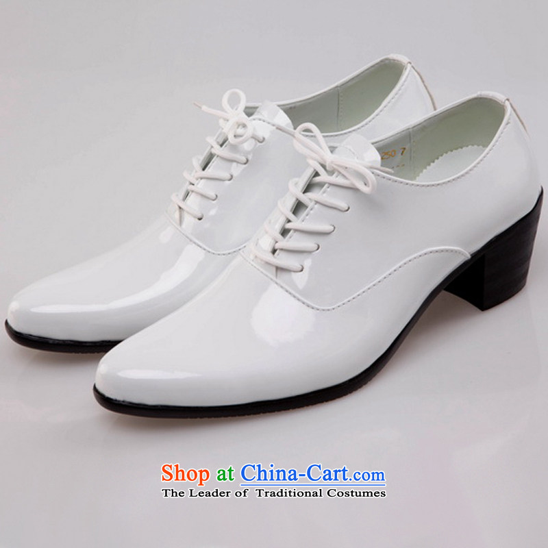 Rain Coat bride and groom increase still men's shoes bridegroom marriage men remarry shoe leather upper floor photo Shoes Show men's shoes white�44