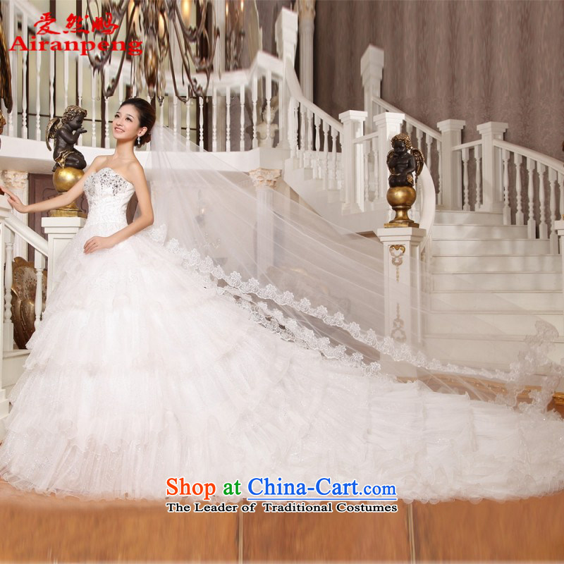Love So Peng 2015 of luxurious tail wedding dresses long tail Korean brides wedding dresses noble and elegant?XL package returning